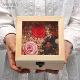 Ivenran Caja De Regalo De Madera Preservada Flor Fresca Para Regalo Creativo