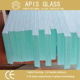 O vidro de segurança desobstruído do flutuador/moderou/vidro temperado para a cozinha/a porta/mobília do chuveiro