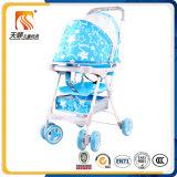 Leichter Plastiksitzroter Baby-Spaziergänger mit 6 EVA-Rädern