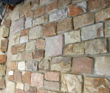 De decoratieve Natuurlijke Roestige Steen van de Bekleding van de Muur van de Lei Buiten (smc-FS044)