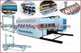 Impressão automática de Flexo que entalha a colagem de dobramento cortando prendendo com correias a máquina Inline