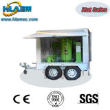 Type mobile usine de filtre à huile de transformateur de vide