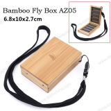 Caixa de bambu nova da mosca do equipamento de pesca do projeto