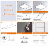 595*595 603*603 620*620mm che appendono/comitato chiaro acrilico messo di bianco LED