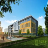 大規模の工業団地デザイン計画3Dのレンダリング