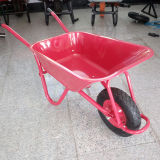 Único Wheelbarrow Wb5009 da roda com bandeja colorida