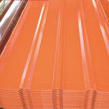 Zincalume/el material para techos acanalado acanalado de las hojas de acero del Galvalume cubre 0.12-3.5m m