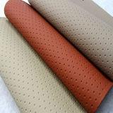 Cuero de imitación del Faux del vinilo del PVC para las cubiertas del automóvil de los asientos de coche