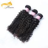 Extensão 100% do cabelo humano do Virgin da qualidade do cabelo de Alimina a melhor