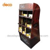 Fußboden-Einzelverkaufs-Bildschirmanzeige-Pappförderung-Bildschirmanzeige-Regal für Supermarkt