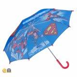 Paraguas recto impreso supermán de los niños de la seguridad