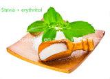 Gesundes Nahrungsmittelstoffstevia-Erythritol