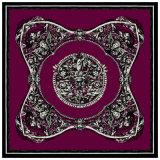 Gedrucktes Silk Schal-Quadrat fertigen China kundenspezifisch an