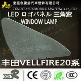 LED-Selbstauto-Fenster-Licht-Firmenzeichen-Panel-Lampe für Toyota Alphard Vellfire 20series