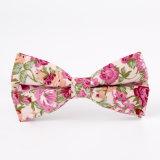 Lazo ocasional colorido de las flores del algodón del estilo de la manera, pajarita de los hombres