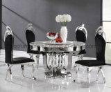 ホーム使用のための創造的なステンレス鋼の円形のダイニングテーブル