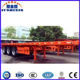 3 árboles 60 toneladas de los 40FT del envase de acoplados planos del carro