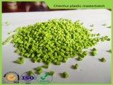Granule en plastique de Materbatch de couleur verte de la Vierge HDPE/PP