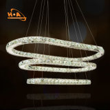 Lámpara colgante pendiente de los anillos calientes de la venta 3 del plan de comercialización lámpara de 220 voltios