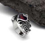 Heart Resin Women Ring Stainless Jewellery Estilo simples