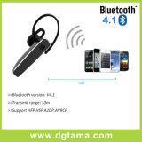Auscultadores estereofónicos dos fones de ouvido do gancho da orelha dos auriculares de Bluetooth para o telefone de pilha