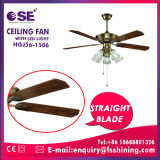 """52 """" 가벼운 천장 선풍기 (HgJ56-1506)를 꾸미는 전기 똑바른 잎"""