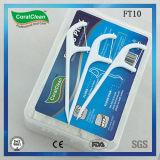 Floss dental plástico com picareta de dente