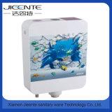 Jet-106b accesorios de baño de impresión personalizada de plástico cuadrado tanque de agua