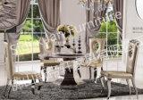 Elegante 5 Seaters runde Marmorglasspeisetisch-Hauptmöbel-preiswerter Preis (SJ825)