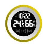온도와 습도를 가진 원형 접촉 스크린 디지털 타이머