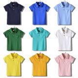 Chemise de polo Short-Sleeved de filles multicolores