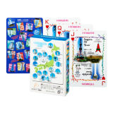 54 cartões com projeto diferente os cartões de jogo de papel personalizados do póquer