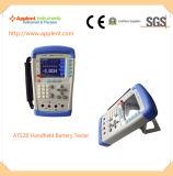 Verificador móvel da bateria com escala 0.0001V-50.00V da medida da tensão (AT528)