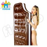 Het opblaasbare Zwemmende Stuk speelgoed van de Vlotter van het Bed van de Zitkamer van de Bank van de Vlotter van de Pool van de Chocolade