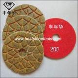 Tampone a cuscinetti per lucidare del pavimento di pietra di calcestruzzo asciutto bagnato del diamante del metallo della resina