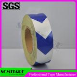 Somitape Sh514 blanco y azul ninguna cinta reflexiva del rastro para multiusos