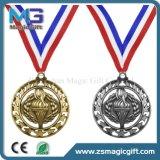 Médaille d'argent personnalisée par qualité d'or d'enjeu