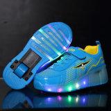 جديدة أسلوب نمط حذاء رياضة تمويه فتى بكرة يمزح أحذية مع قابل للانكماش عجلة رياضة, سعر رخيصة [رولّر سكت] أحذية جيّدة