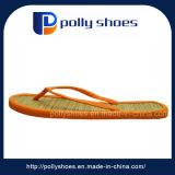 Das mulheres confortáveis da praia do Insole da palha do algodão da forma laranja extravagante do deslizador