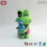 Cadeau fait sur commande bourré mou de jouet d'étreinte de grenouille de cadeau de fille de peluche