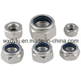 中国のステンレス鋼ねじ304 ISO 7040からの非金属挿入工場が付いている六角形ナット
