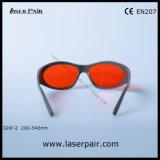 200-540nm Excimer, ultravioleta, vidros protetores do laser/típico verdes para 266nm, 355nm, 515nm, 532nm com Frame55 cinzento
