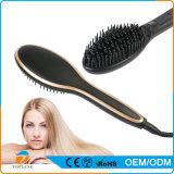 Cepillo caliente de la enderezadora del pelo de la estrella de la belleza de la venta ODM/OEM con el peine de la visualización del LCD