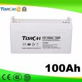 tipo bateria solar do gel 100ah de 12V para UPS, central eléctrica, sistema do agregado familiar