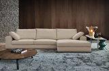 Nuevo L moderno sofá de la tela de la dimensión de una variable, estante de libro de madera (HC520)