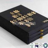 アップグレードの黒いペーパー引出しのパッキングギフト用の箱