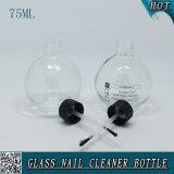 Glas75ml nagellack-Remover-Flaschen-Schwarz-Schutzkappe mit Pinsel