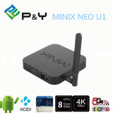 Intelligente Mikroprogrammaufstellung Allwinner Phasen-Fernsehapparat Apk unterstützte IPTV HD IPTV Minix NeoU1 4k S905 2g 16g Vierradantriebwagen-KernKodi16.0 Android 5.1