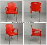 Gaststätte-Plastikmetall, das Stuhl mit Arerest (LL-0047A, speist)