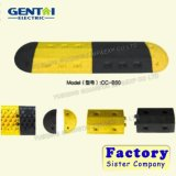 De Gele/Zwarte Gerecycleerde Plastic Verkeersdrempels van de economie